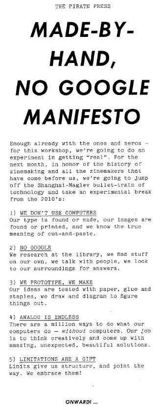 manifesto pirate press
